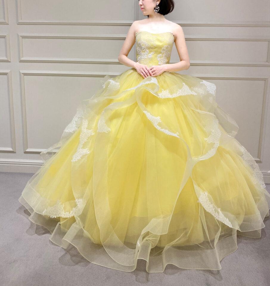 Fiore Bianca(フィオーレビアンカ)オリジナルカラードレス イエロー