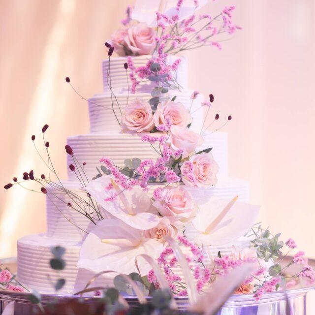 ホテル日航福岡 都久志の間 ウェディングケーキ