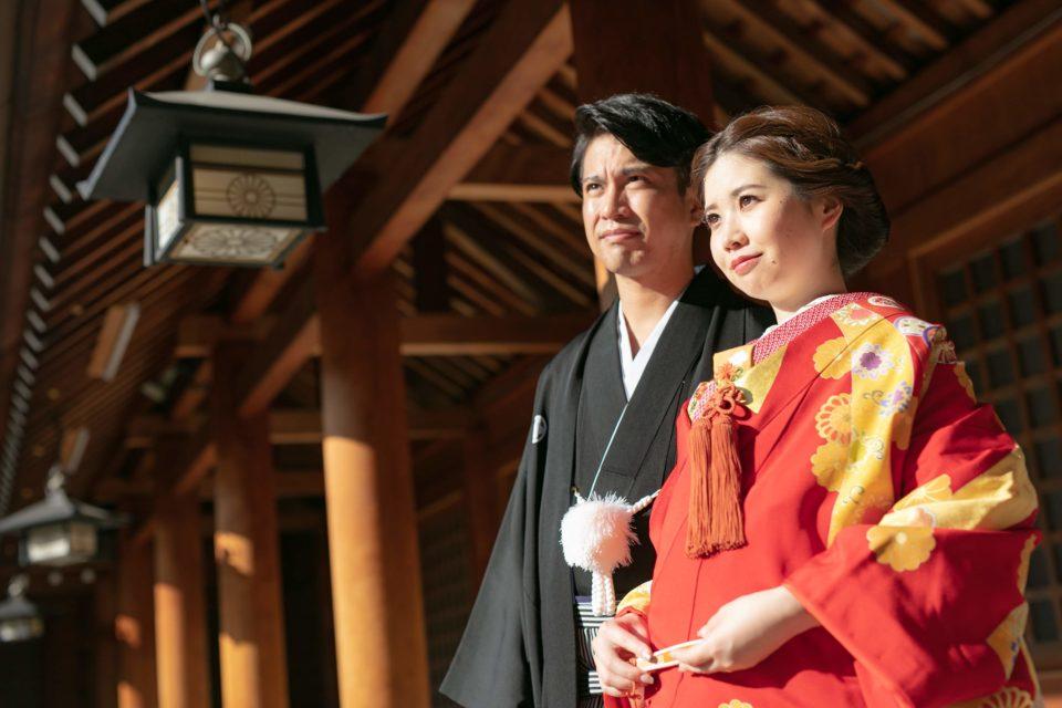 北海道神宮で結婚した2人