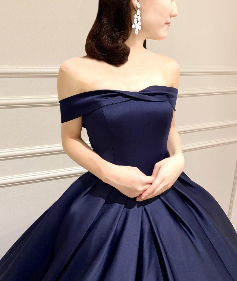 Fiore Bianca(フィオーレビアンカ)オリジナル ネイビー カラードレス