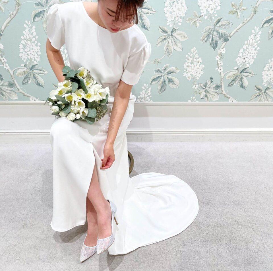 LENA MEDOYEFF(レナ メドエフ)のショートスリーブウェディングドレス