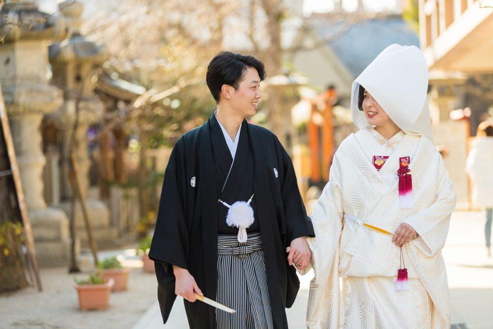 櫛田神社 白無垢 綿帽子 JUNO