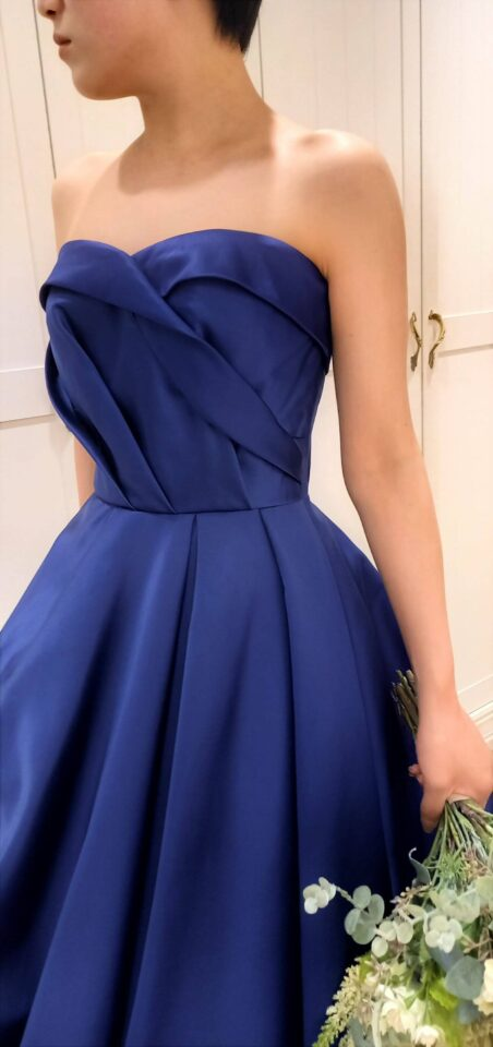 Fiore Bianca(フィオーレビアンカ)オリジナル、ブルーのカラードレスNigella(ニゲラ)