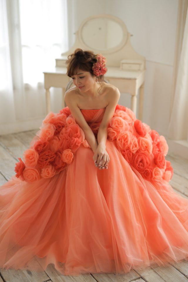 FioreBianca(フィオーレビアンカ)オリジナルカラードレス ドームライン
