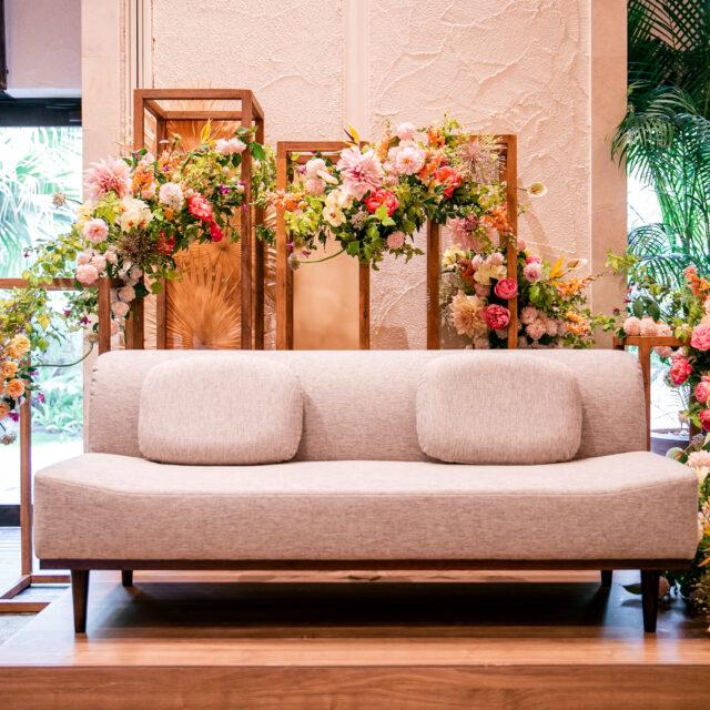 ルイガンズ 福岡 結婚式 リゾートウェディング ガーデンウェディング ソファ席