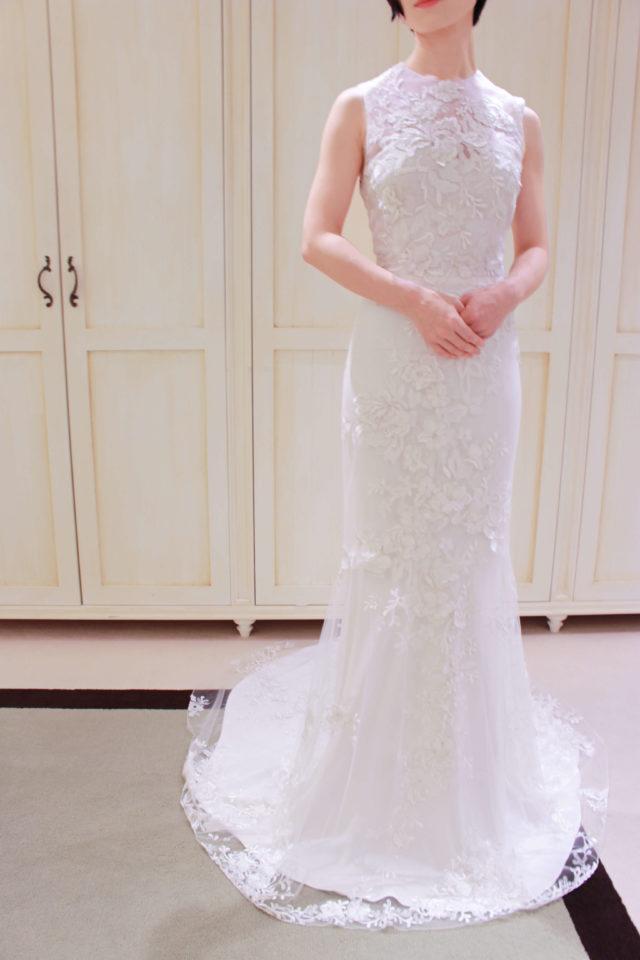 Elizabeth Fillmore(エリザベスフィルモア)のドレスで大人なナイトウェディング