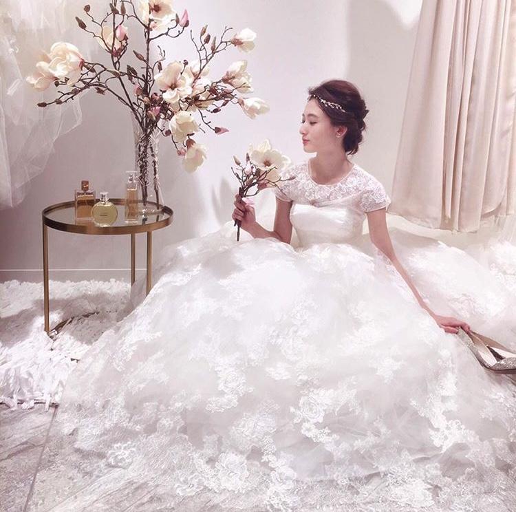 ロマンチック♡おすわりショットに映えるドレス