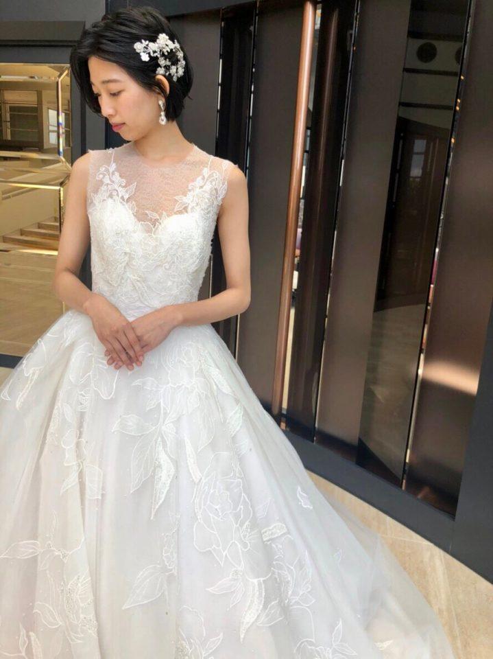 INES DI SANTO(イネスディサント)のドレスで憧れの洗練された花嫁様に