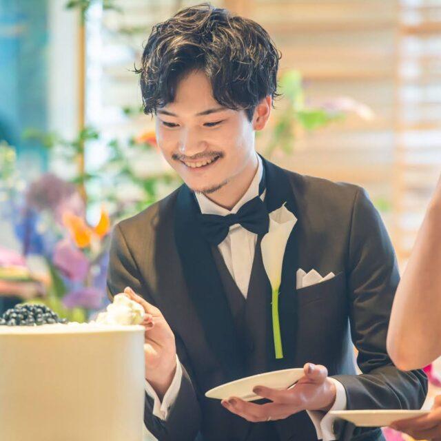 リストランテクボツ 結婚式 福岡 披露宴 ウェディングケーキ
