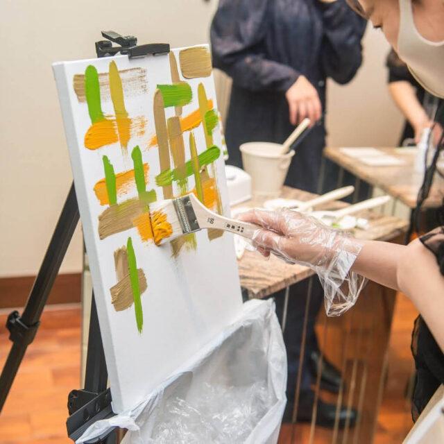 リストランテクボツ 福岡 結婚式 結婚証明書 キャンバスアート