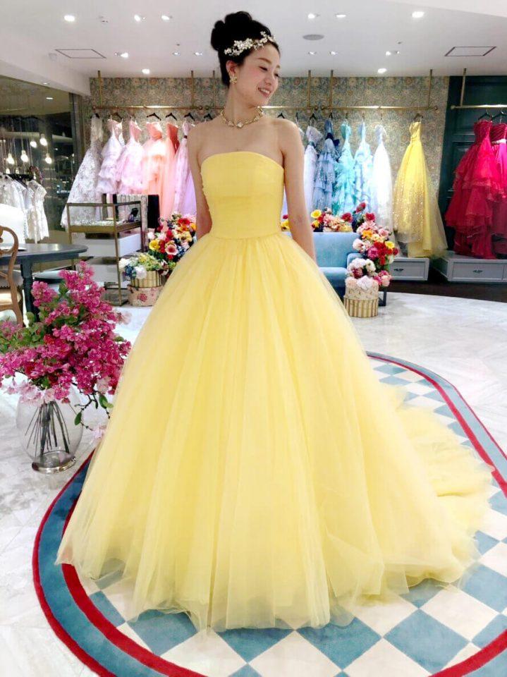 WeddingBoutique(ウエディングブティック)のオリジナルカラードレスで華やかなお色直しを