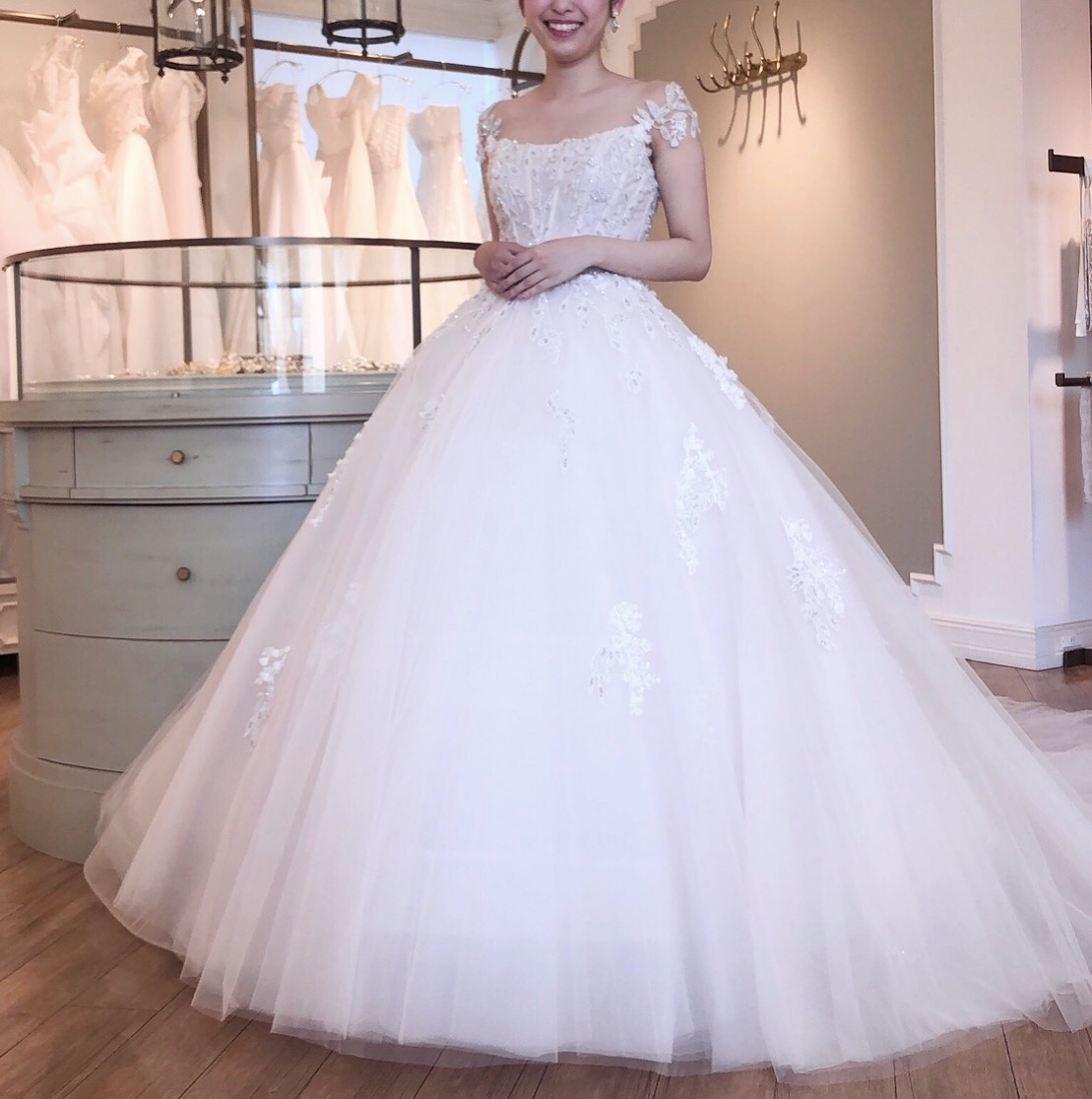 INES DI SANTO(イネスディサント) ピンクアイボリー ウェディングドレス