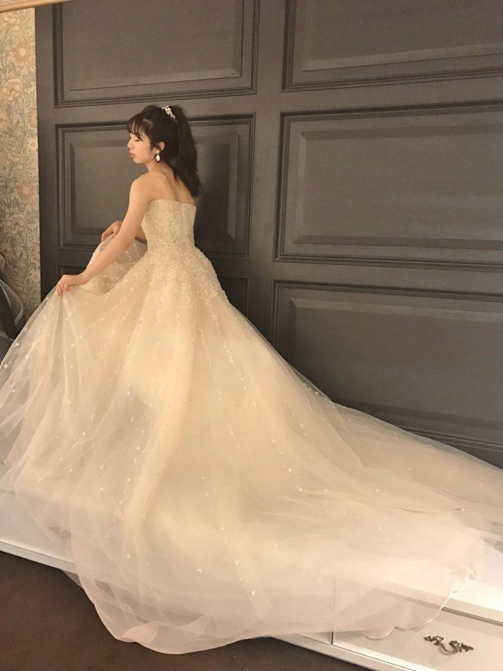 イネスディサントのAラインウェディングドレス