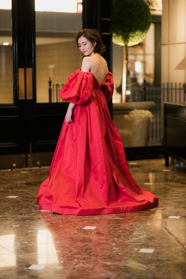 Francesca Miranda(フランチェスカミランダ) レッド カラードレス