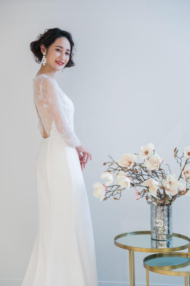ドレスショップFiore Bianca(フィオーレビアンカ)のNouvelle AMSALE(ヌーベルアムサーラ)を着用した花嫁さま/Dresses