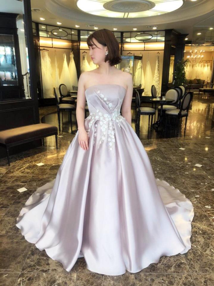 Leaf for Brides(リーフフォーブライズ)Aラインカラードレス