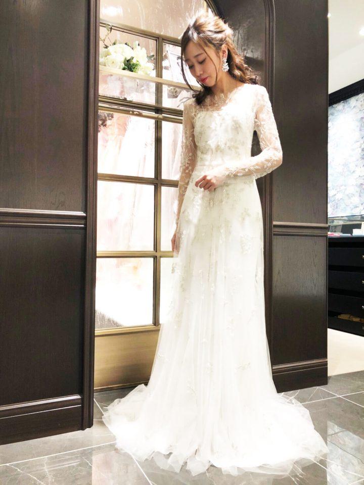 KENNETH POOL(ケネスプール)スレンダーライン ウェディングドレス