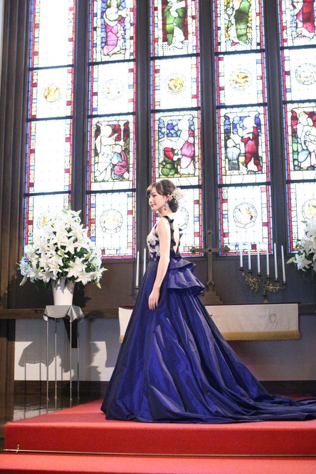 JUNO(ジュノ)オリジナルカラードレスでエレンガントな花嫁様に