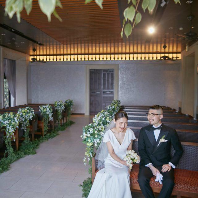 THE LUIGANS Spa & Resort(ザ・ルイガンズ. スパ & リゾート)THE GRAND BEACH 挙式 ウェディングドレス AMSALE(アムサーラ)