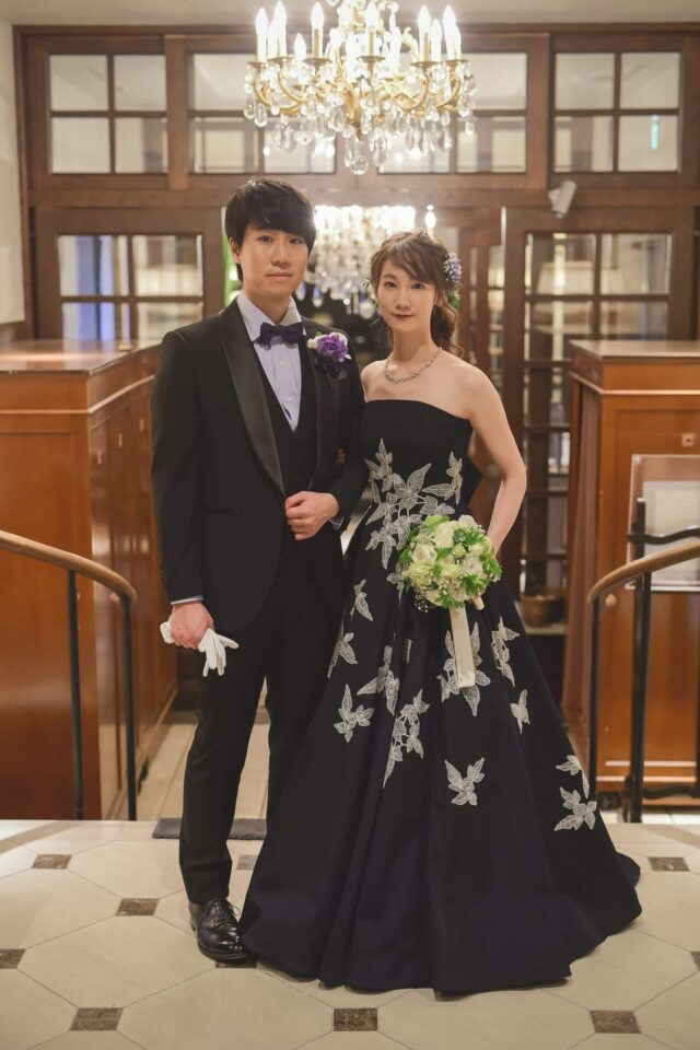 JUNO(ジュノ)オリジナルカラードレス ネイビー