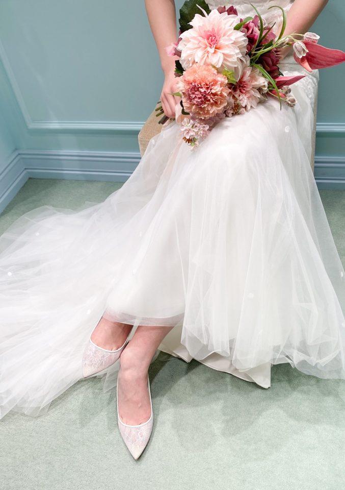 Nouvelle AMSALE(ヌーベル アムサーラ) マーメイドライン レース 袖付きドレス