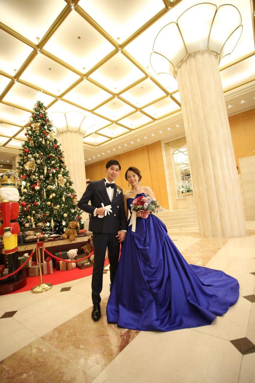 ホテル日航福岡 都久志の間 写真撮影 クリスマスツリー