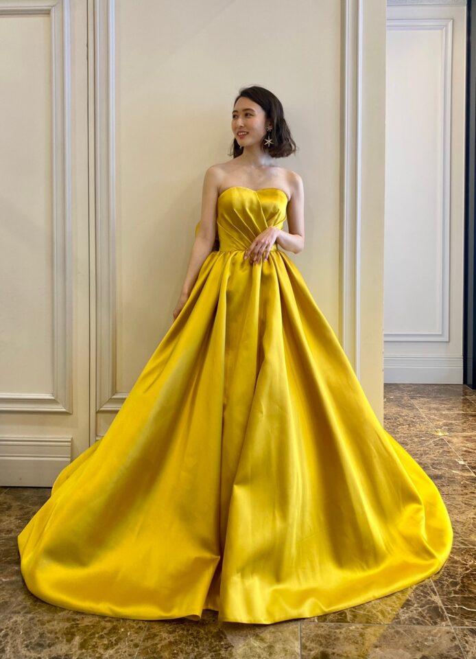 THE SWEET COLLECTION by JUNO(ザスウィートコレクションバイジュノ)オリジナルカラードレス イエロー