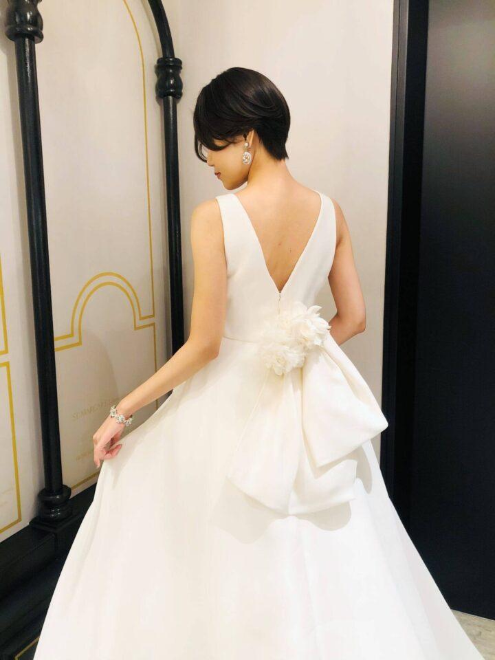 MARCHESA(マルケーザ)、オーガンジーのウェディングドレス