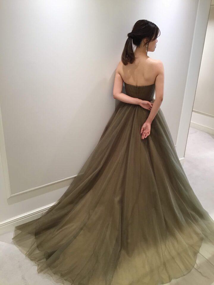 FioreBiancaオリジナルドレス カラードレス Aライン アースカラー