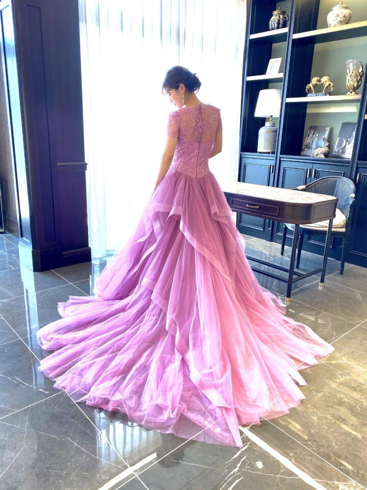 KENNETH POOL(ケネスプール)のピンクのカラードレス