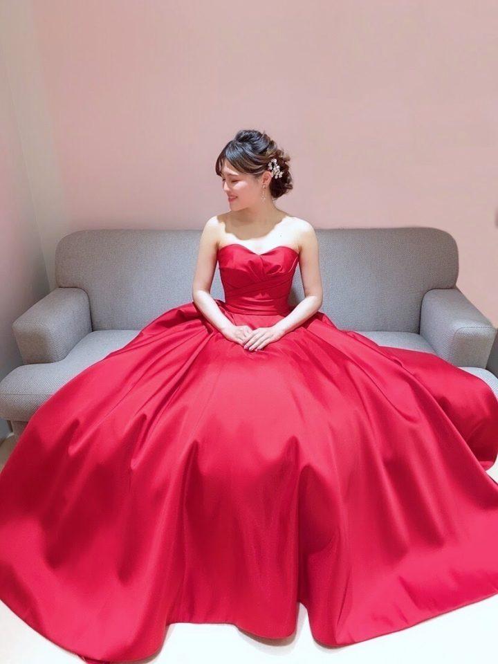 Leaf for Brides(リーフフォーブライズ) 赤 カラードレス