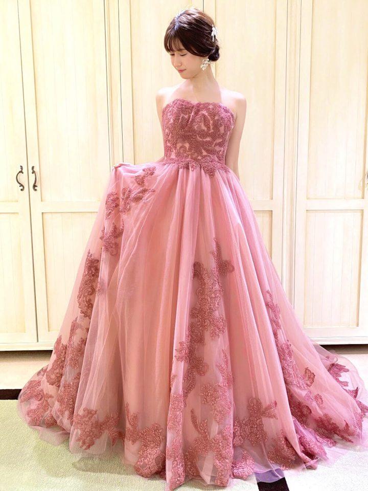 ニュアンスカラードレス DtLオリジナル ピンク