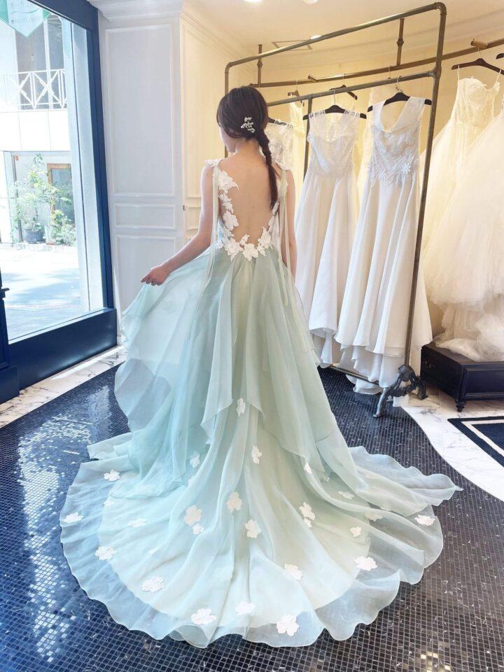 Leaf for Brides(リーフフォーブライズ) シャーベットグリーン カラードレス