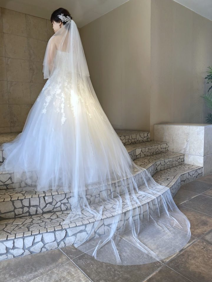 Reem Acra (リームアクラ) コードリバーレース チュール ウェディングドレス
