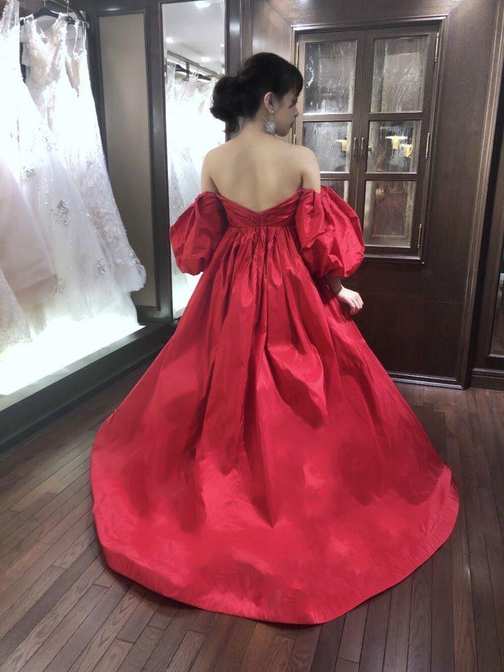 Francesca Miranda(フランチェスカミランダ) 赤 カラードレス