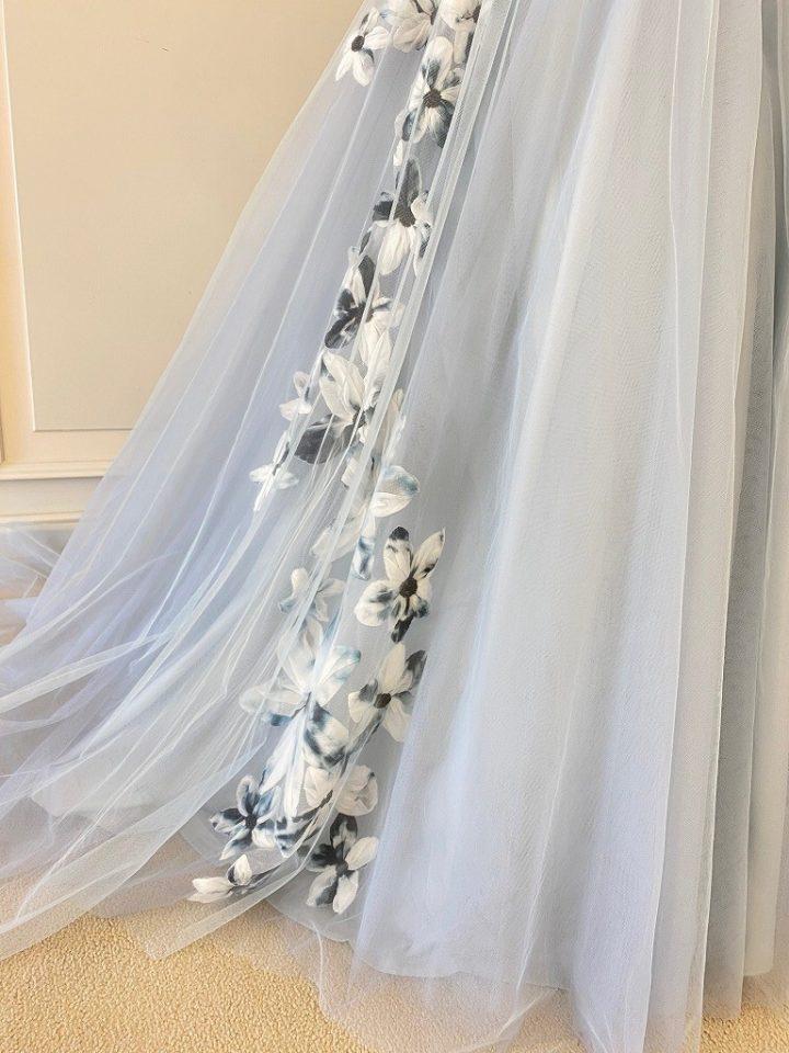 Fiore Bianca(フィオーレビアンカ)オリジナルドレス Aライン チュール