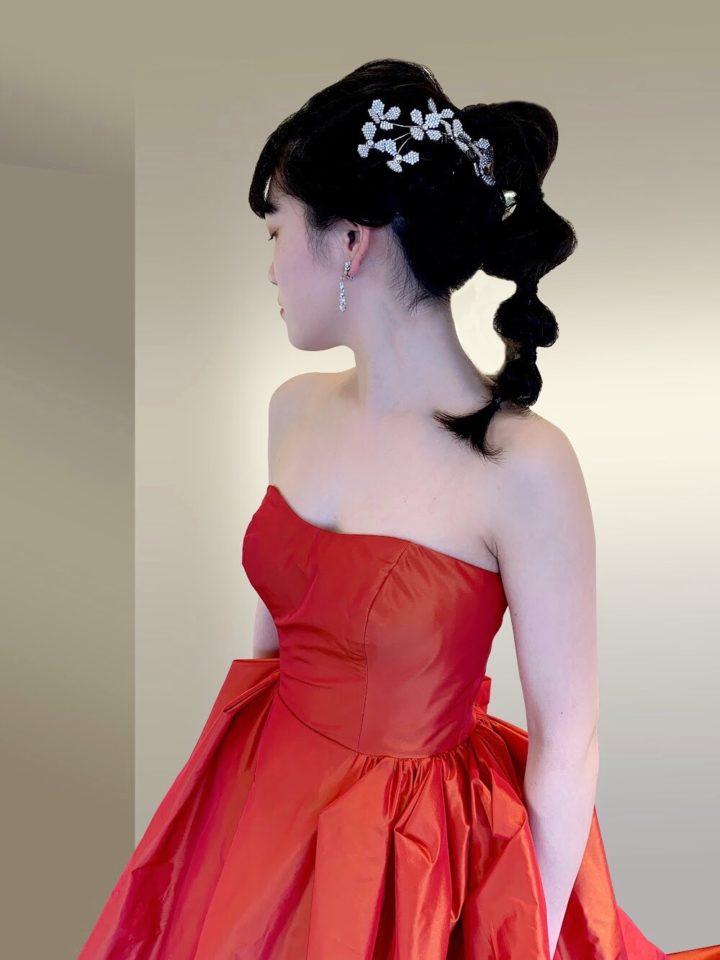 Fiore BiancaオリジナルカラードレスMartina(マルティーナ) 赤ドレス