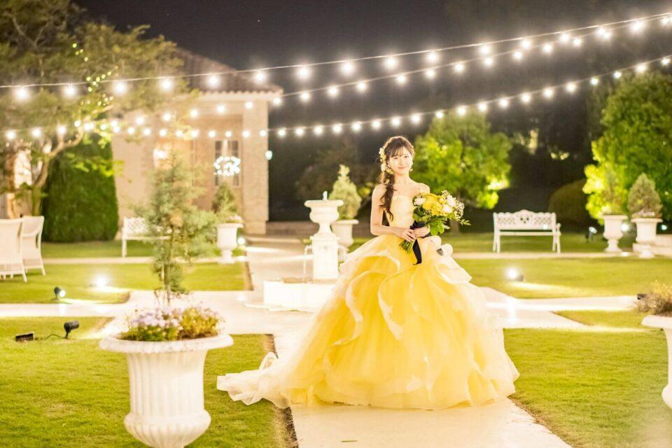 Fiore Bianca(フィオーレビアンカ)オリジナルカラードレス Fennel(フェンネル) イエロー