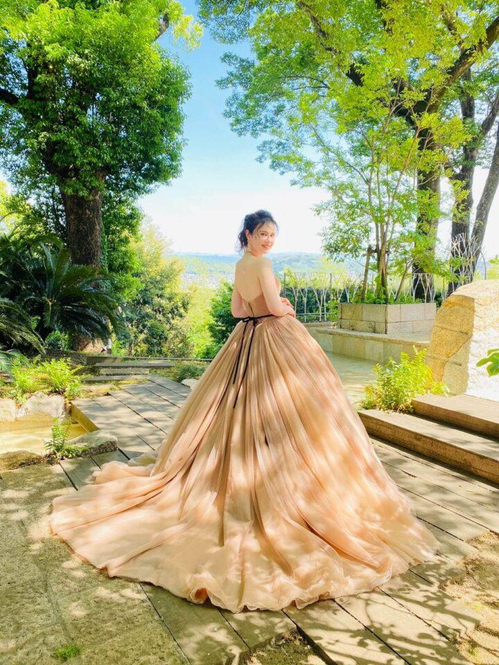 THE SWEET COLLECTION by JUNO(ザスウィートコレクションバイジュノ )オリジナル ベージュ ブラウン カラードレス