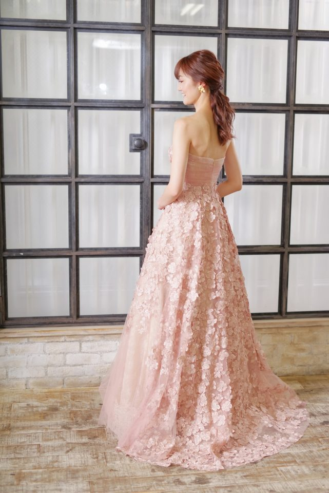 ヨーランクリス ピンク カラードレス