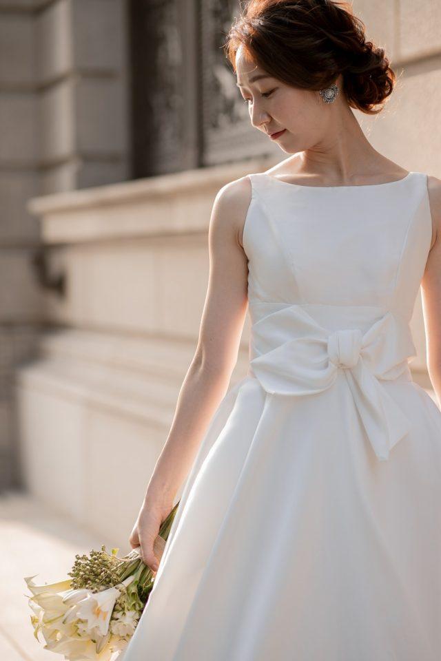 ウェディングドレス ピーターラングナー Aライン、サテン