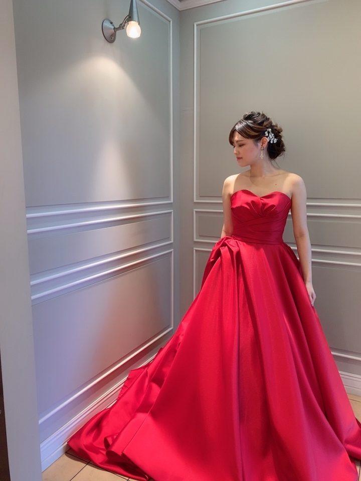 Leaf for Brides(リーフフォーブライズ) カラードレス レッド Red