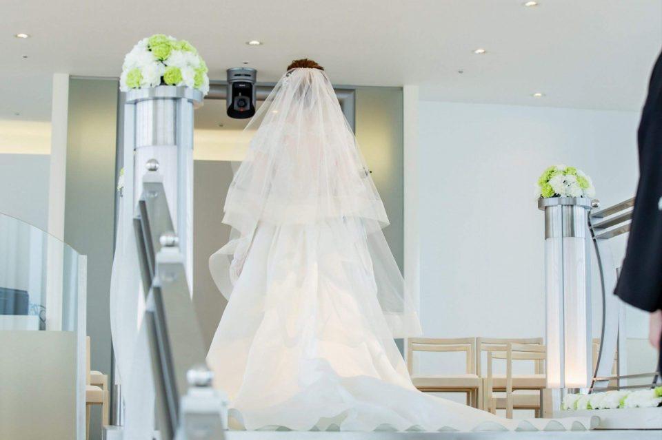 マルケーザ バックスタイル 袖付きドレス