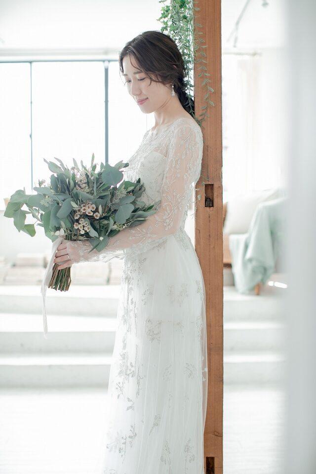 KENNETH POOL(ケネスプール) Aライン 袖付きドレス