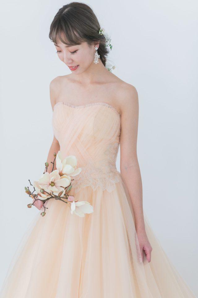 ニュアンスカラーウェディングドレス
