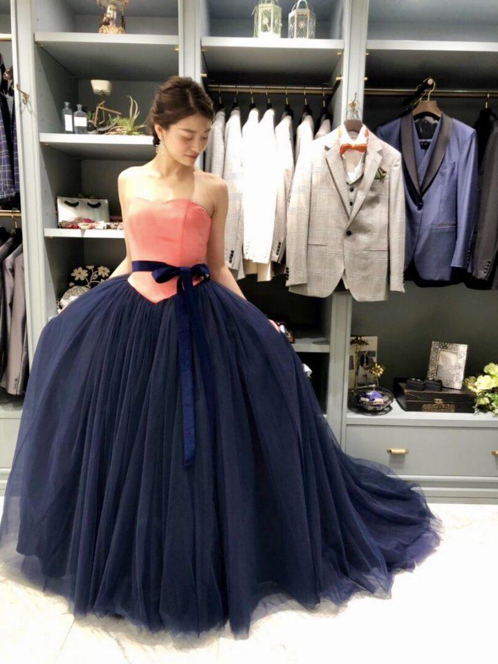 自分らしいスタイルが叶う!Wedding Boutique(ウェディング ブティック)のオリジナルバイカラードレス