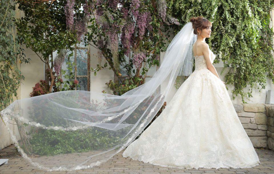 ベールとウェディングドレスの好相性の選び方と似合うコツ
