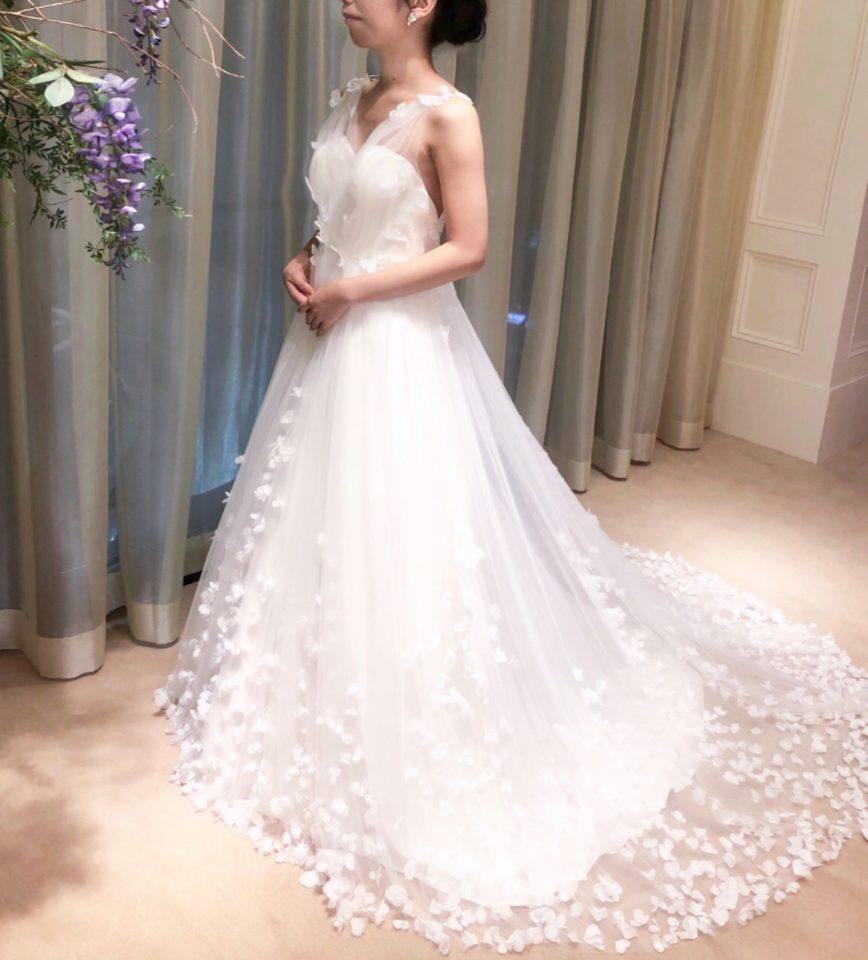 Fiore bianca(フィオーレビアンカ) バックスタイル ドレス