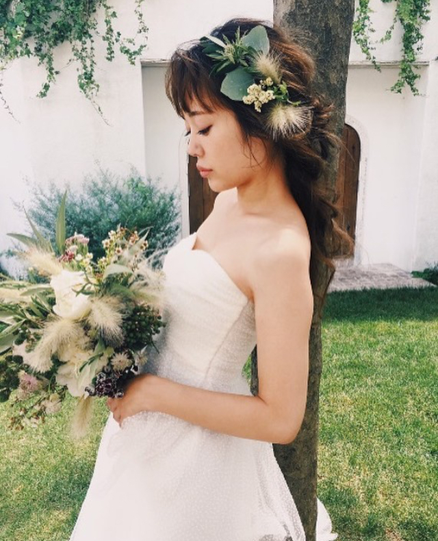 花嫁 髪型 ダウンヘア