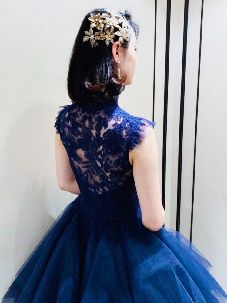 Leaf for Brides(リーフフォーブライズ)ドームラインカラードレス